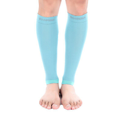 Doc Miller Calf Compression Sleeve 1Pair 20-30mmHg Recovery Varicose Vein TEAL