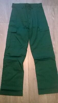 Mens quality GREEN action combat cargo work trousers, Ambulance Vet NHS hospital