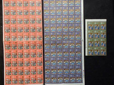 Gb 1970 U/mint Christmas Stamp Set Sg838-840 - 132 Stamps In 3 Blocks