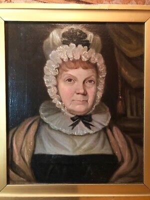 18th / Early 19th Century Antique American Oil Painting Portrait