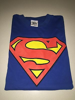 Dc Comics Superman Original Long Sleeve Top Size L - Top Condition