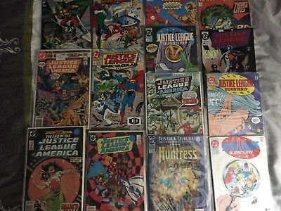 Lot of 14 JUSTICE LEAGUE Comics Bronze Copper Age High Grade READERS SEE PHOTO
