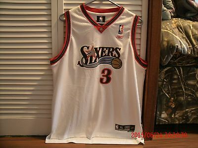 AND1 Streetball Signed Reebok Philly Sixers Allen Iverson Authenic XL Jersey