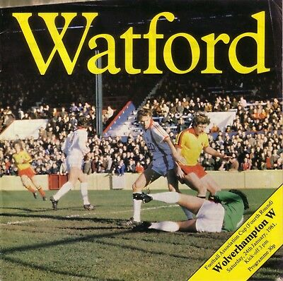 WATFORD v WOLVES 1980/81 FA CUP 4TH ROUND