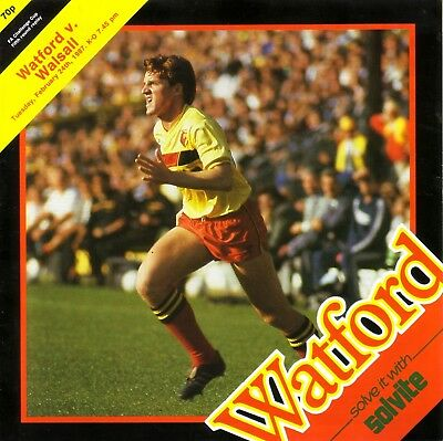 WATFORD v WALSALL 1986/87 FA CUP 5TH ROUND REPLAY