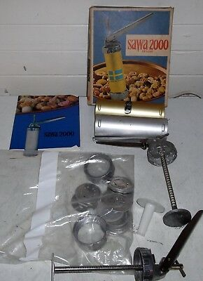 vintage 60's SAWA 2000 DELUXE swiss made piping kit BISCUITS cookies cake icing
