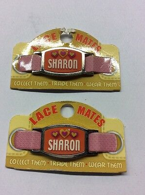 "2 LACE MATES ""SHARON"" (Shoe Or Bracelet Charm) Party Favours FREE POSTAGE"