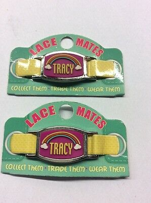 "2 LACE MATES ""TRACY"" (Shoe Or Bracelet Charm) Party Favours FREE POSTAGE"