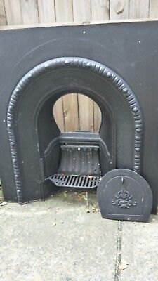 Cast Iron Fireplace surround. Vintage fire place.