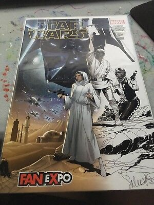 Star Wars #1 fan expo sketch variant comic book hard to find