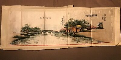 Antique Chinese Silk Embroidery Farewell To Missionary Kuling , Kiangsi, China