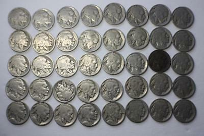 Mix collection of Buffalo Nickels 5c One Roll (40 coins)