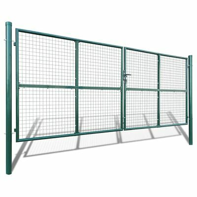 Mesh Garden Gate 415x200cm/400x150cm Dark Green Galvanised Steel Backyard