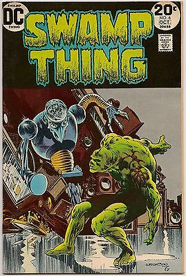 Swamp Thing #6 (DC 1973) VF+: a clockwork town & the Conclave (1st app.)