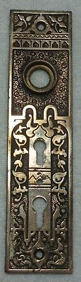 "Solid Bronze paterned  Door plate 7"" tall X 1 11/16"" wide very Fancy"