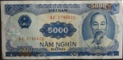 Vietnam 5000 Dong Used