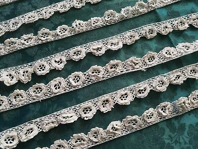 ROSES !!! Antique Irish Crochet lace   4+ yards hand made