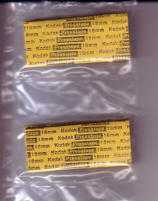 GENUINE KODAK 16MM PRESSTAPES FOR UNIVERSAL TAPE SPLICER (20 Splices/40 Tapes)