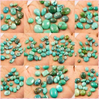 100% Natural Ring Size Tibetan Turquoise Lot Cabochon Gemstone NG6931-6967