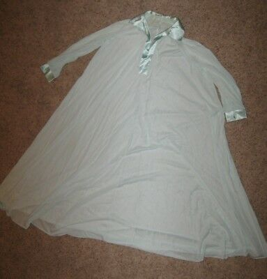 Claire Sandra by Lucie Ann Beverly Hills sheer blue nightgown small