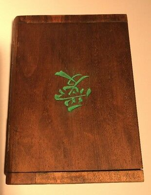 Antique Chinese Wood Bible Book Box from Missionary/Teacher Yochow China