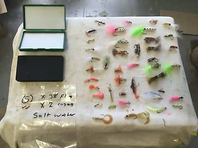 Fly Fishing, saltwater, 38 Flies, many differant types