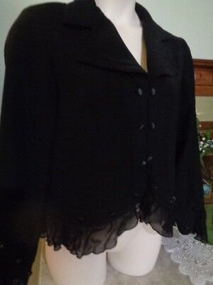 Retro Black  Jacket By Joseph Ribkoff Made In Australia