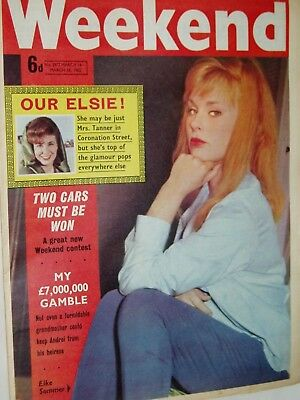 """WEEKEND """"Womens"""" paper....18th March 1962.....ELKE SOMMER   cover"""