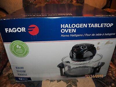 Fagor 12 Quart Halogen Tabletop Oven NEW IN BOX...(BOX IS A