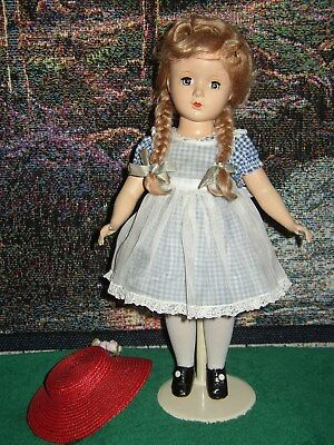 "Vintage Alexander - Hard Plastic Margaret Doll 14"" - Missing Tag From Dress"