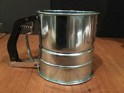 Vintage Pale Blue Anodised Sifter With Bakelite Handle - The Propert Mult-I-sift