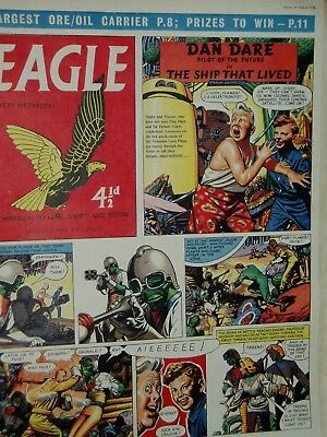 EAGLE COMIC....Dan Dare....14th March 1958....Vol 9...No 11....DAN DARE +