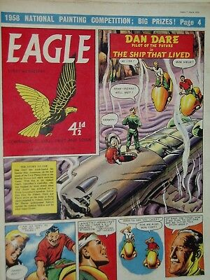 EAGLE COMIC....Dan Dare....7th March 1958....Vol 9...No 10....DAN DARE +