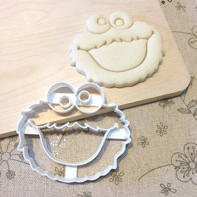 Cookie Monster Cookie Cutter - Fondant Icing Cake Cupcake Topper Birthday Party