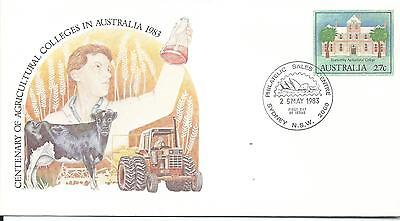 1983 100 Years Agricultural Colleges  27c FDI 25 May 1983 Sydney NSW 2000