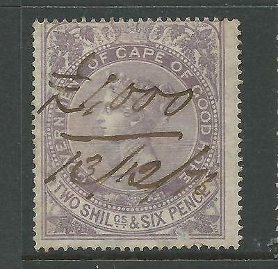 Cape of Good Hope Queen Victoria Revenue Stamp Duty 2s 6d Used