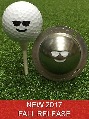 1 only TIN CUP GOLF BALL MARKER - CHILLIN - Yours For Life & EASY TO DO