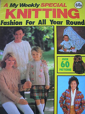 VINTAGE 1983 MY WEEKLY KNITTING PATTERN MAG CARDIGANS SWEATERS HAT x 60