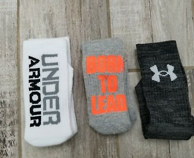 Under Armour UA Training Crew Socks Boy's Large Shoe Size 13.5K-4Y NEW NWT