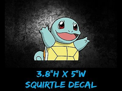 Pokemon squirtle small anime 5wide window car decal sticker pokemon go usdm