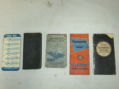 Vtg Lot Of 5 Machinist's Booklets