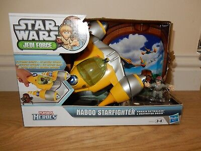 NEW Hasbro Playskool Heroes Star Wars Naboo Starfighter Boy Girl Christmas Gift