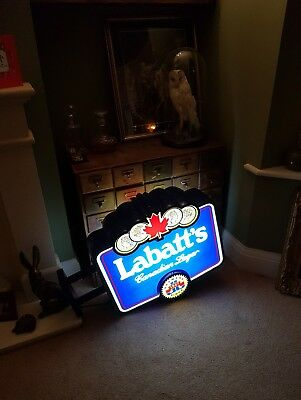 Vintage Light Up Canada lager blue USA double sided Wall Illuminated Sign Large