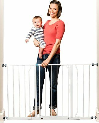 Baby Gate EXTRA WIDE Easy Open Metal Pet Pets Babies Child Proof Safety