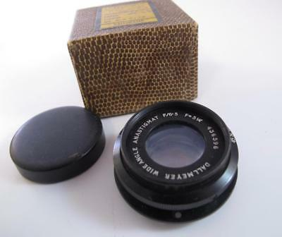 Dallmeyer f6.5 5.25 inch Wide Angle Lens Boxed