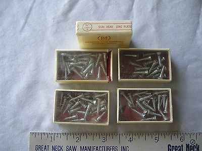 "Wood Screws, Oval Head, Slotted, 5/8"" X #5, Zinc Plated, One Lot Of 22"