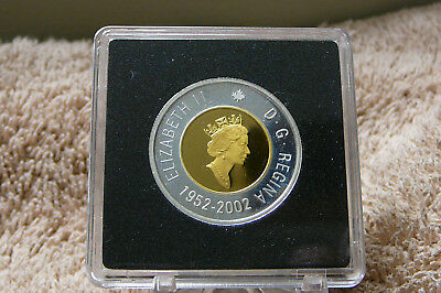 "1952-2002 Two Dollars ""50th anniversary of the reign of queen Elizabeth"" Proof"