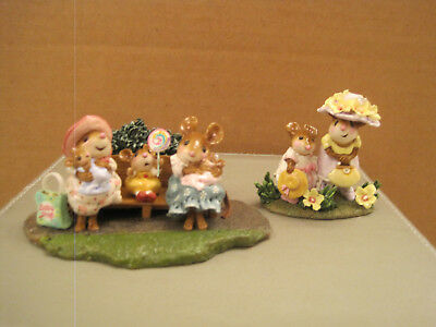 Wee Forest Folk M-463a Mommies at the Park and M-292s Fancy That - Both Limited
