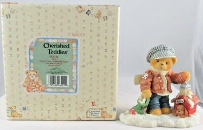 Cherished Teddies by Enesco - Rich - Boy With Dog in Dog House  #352721  (1998)