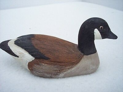 """Jennings Decoy Co Canada Goose Figurine Decor 5.5""""x2.5"""" Handcrafted Signed 1986"""